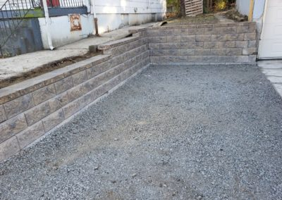 Tom In North Avondale Cincinnati Is Happy To Have His New Driveway Retaining Wall! See Pics…