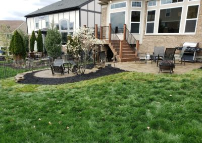 Becky of Ft. Thomas, Kentucky Loves the Way Her Backyard Looks After A Spring Cleanup, Sod Installation, and Mulching! See Pics…