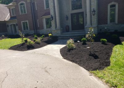 Dr. Khan of Indian Hill is Enjoying His New Mulch and Plants In His Front Yard. See Pics!…