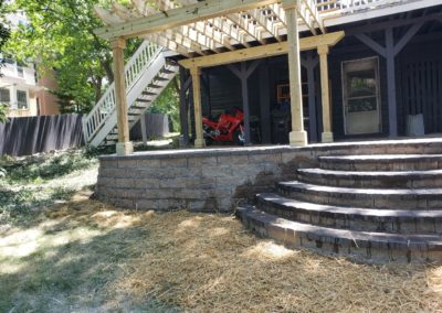 Ellory and Amber of North Avondale Love Their New Pergola, Paver Patio, Firepit, and Retaining Walls! See Pics…