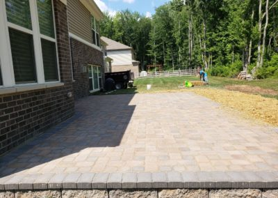 Dejuan and Tamia of Loveland, Ohio Love Their New Paver Patio, Small Retaining Wall, and Back Step! See Video and Pics!…