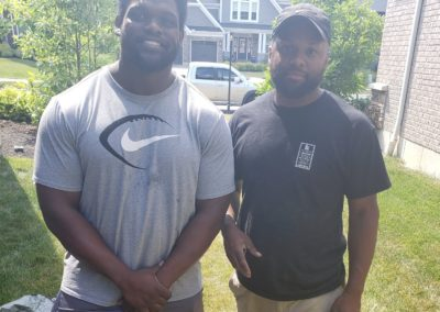 Geno Atkins of the Cincinnati Bengals Loves His New French Drain, Mulch, and Other Landscaping! See Pics and Video…