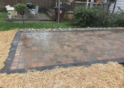 Kyle of Covington, Kentucky is Enjoying His New Paver Patio and Platform Step in His Backyard!