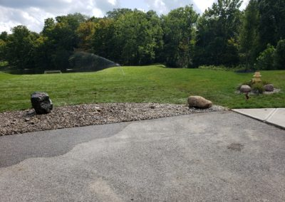 Joe of Anderson Is Very Happy With His New Gravel Bed, Granite Boulders, and Sod! See Pics…