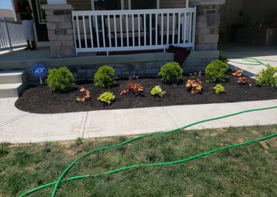 Derrick of Cleves, Ohio is Very Happy With His New Mulch, Flower Beds, and Flowers. See Pics…