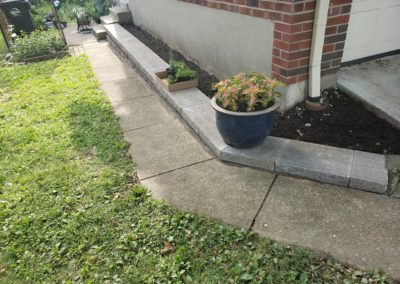 Cathy of Pleasant Ridge, Ohio is Very Happy With Her New Retaining Wall And Planter. See Pics…