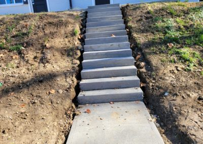 Nassau Investments Are Very Happy With The New Concrete Steps We Built For Their Avondale Townhouse. See Pics…