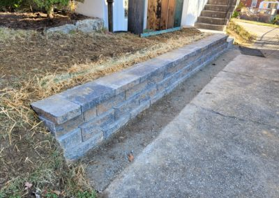 Joel and Carey of Delhi, Ohio Love Their New Retaining Wall Along Their Driveway! See Pics…