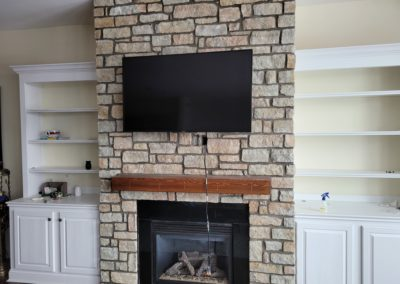 Sami of Covington, Kentucky Is Extremely Happy With Her New Southern Buff Stone Fireplace. See Pics!…