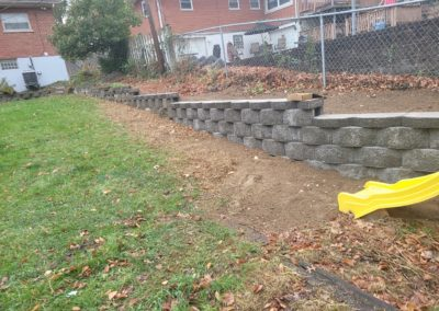 Wayne of Ft. Mitchell, Kentucky is Very Happy With His New Retaining Wall! See Pics…