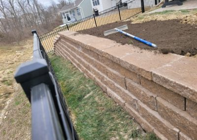 Lonnie of Milford, Ohio Loves His New Retaining Wall and French Drain. See Pics and Video!…