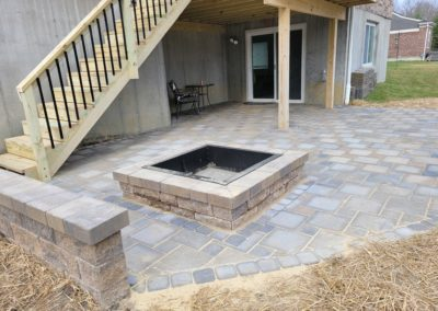 Nikki Werner of Loveland, Ohio Gave Us a 5 Star Review For Her New Deck Steps, Paver Patio, Fire Pit, and Seat Wall. See Pics and Video!…