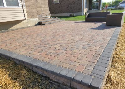 Kevin of West Chester, Ohio Gave Us a 5 Star Review For His New Patio, Retaining Wall, and Custom Paver Steps! See Pics & Video…
