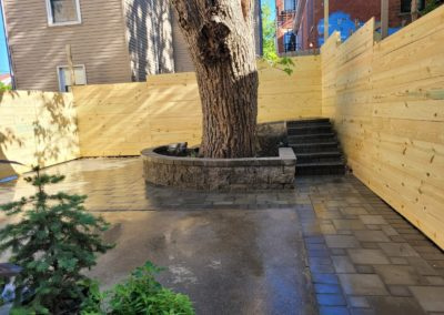 Kristen and Erin in Downtown Cincinnati, Ohio Love Their New Horizontal Fence, Pavers, Steps, and Seat Wall. See Pics & Video…
